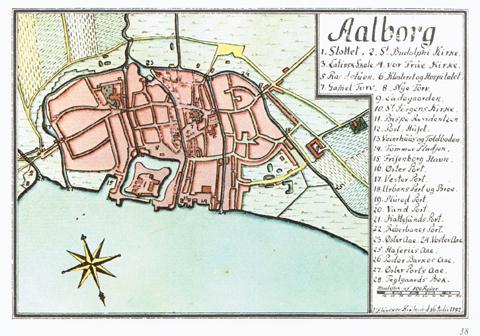 Kort over Aalborg