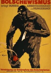 World War I, Bolshevism, German Poster Print by Everett