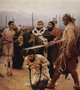 Saint Nicholas Saves Three Innocents from Death.